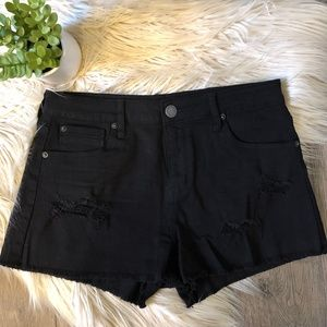 STS Blue Distressed HW Black Denim Shorts sz 29